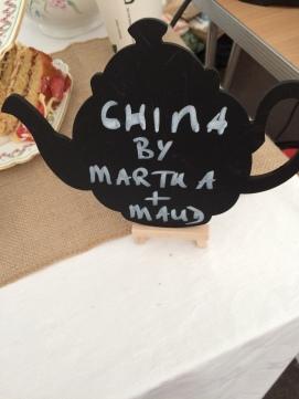Martha and Maud Vintage China Hire